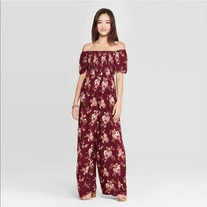 Xhilaration Off The Shoulder Capri Jumpsuit